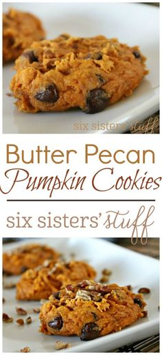Butter Pecan Pumpkin Cookies  are the perfect holiday cookie!