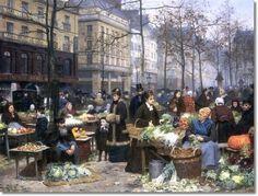 Victor Gabriel Gilbert le-marche-aux-legumes