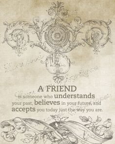 Friendship  A Shabby Chic Motivational Fine Art by ChezLorraines, $12.00