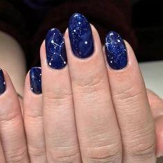 Pointy Nails, Gel Nails, Nail Polish, Gradient Nails, Planet Nails, Galaxy Nail Art, Star Nails, Star Nail Art, Beautiful Nail Designs