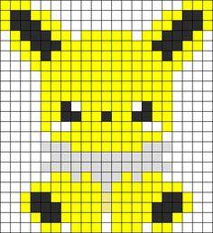 Baby Jolteon Perler Bead Pattern / Bead Sprite