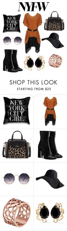 """New york Fancy"" by lydiasoong2210 ❤ liked on Polyvore featuring New York Industrie, Kate Spade, Spitfire, Tartesia and Bounkit"