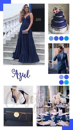 c92146a6f9 Vestido de festa azul 2019  do azul marinho ao azul bic