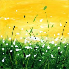 Promise of Spring Painted on stretched canvas, March, 2015.