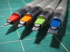 Pilot Parallel Pens (1.5mm, 2.4mm, 3.8mm & 6.0mm). You can do some really great calligraphy with these guys. You can also do some great loose and expressionistic sketches!