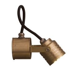 Elstead Lighting Garden Zone Elite 3 Light LED Solid Brass Outdoor Wall Spotlight in a Polished Finish. I would put these inside