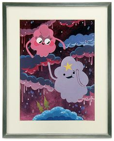 """""""LSP and Melissa"""" by artist Joey Chou - Oootopia: An Artgebraic Tribute to Adventure Time show"""