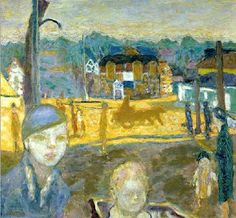 Street Scene with a Woman and a Child - Pierre Bonnard