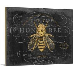 Chad Barrett Premium Thick-Wrap Canvas Wall Art Print entitled Honey Bee >>> Find out more about the great product at the image link. (This is an affiliate link) Canvas Frame, Canvas Wall Art, Wall Art Prints, Canvas Prints, Big Canvas, Framed Prints, Mural Wall, Painting Canvas, Industrial Artwork