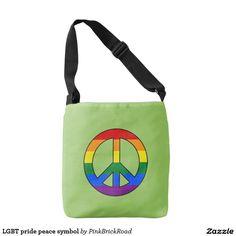 LGBT pride peace symbol Tote Bag