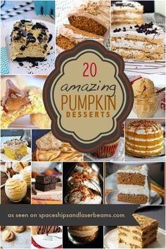 20 Kid Approved Pumpkin Desserts