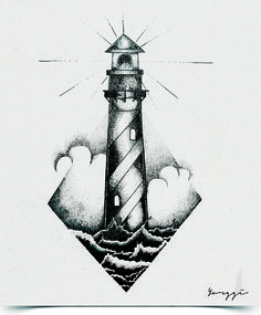 lighthouse Tattoo Sketches, Tattoo Drawings, Art Sketches, Art Drawings, Neue Tattoos, Body Art Tattoos, Sleeve Tattoos, Bleistift Tattoo, Stylo Art