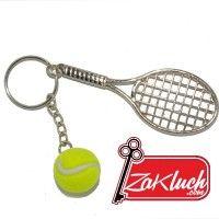 Тенис ракета с топче - метален ключодържател за любители на тенис на корт