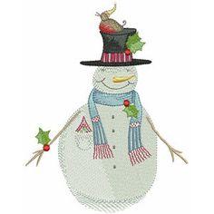 Snow Friends by Debbie Taylor-Kerman winter embroidery designs