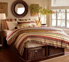 Decor Look Alikes | Pottery Barn Duncan Stripe Duvet Cover and Shams