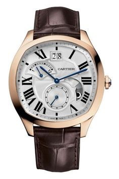 Designed in the Drive de Cartier watch has a style all it's own with a curved case, domed crystal and a sapphire dial. Discover the Drive de Cartier in pink gold. Cartier Santos, Luxury Watch Brands, Luxury Watches For Men, Unique Watches, Stylish Watches, Fine Watches, Patek Philippe, Cartier Drive, Devon