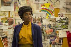 9 Unsung Female Characters Of Mad Men  #refinery29  http://www.refinery29.com/2015/04/84932/best-female-characters-last-season-of-mad-men#slide-4  Dawn ChambersThroughout its seven-season run, Mad Men has failed to explore race with the same intellect and sensitivity it has women, gay, and other minority issues. In season 5, Dawn Chambers (Teyonah Parris) emerged as one of SCDP's only black employees when she became Don's secretary. Throughout her story arc, Dawn was subjected to far more…