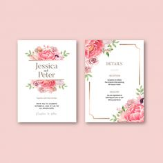 Wedding invitation with romantic foliage Free Vector | Free Vector #Freepik #vector #freeframe #freewedding #freewatercolor #freevintage