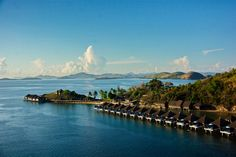 Villas over the water at Huma Island Resort and Spa, Busuanga, Palawan, Philippines- where I want to stay next time we go!