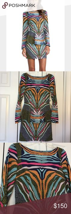 Mara Hoffman peplum dress in Phoenix black One of the coolest designs I've ever seen! NWT. 100% polyester. 34 inches long. (L) Mara Hoffman Dresses Long Sleeve