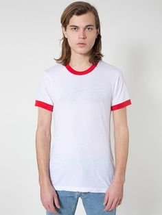 BB410 Poly-Cotton S/S Ringer T-Shirt