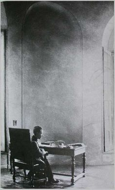 """""""To be what I am. To live the life that was set for me to live. To voice the things that only I can voice. To bear the blossoms that are commanded of my heart. This is what I want, and surely, this cannot be presumptuous."""" — Rainer Maria Rilke at work, Hotel Biron, Paris."""