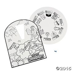 "Color Your Own ""The Ten Commandments"" Wheels - Oriental Trading"