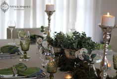 Decoração de mesa com prataria para Jantar por Patricia Junqueira {Home, Receber & Baby}.  #Tablescape www.patriciajunqueira.com.br