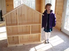 Following Ana White's Dollhouse Bookcase Plans--- white pine
