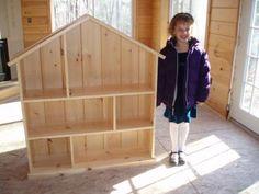Following Ana White's Dollhouse Bookcase Plans--- white pine