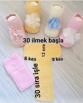 Hayirlikandiller Rabbim Settle For No Ma Diy Crafts Marecipe Baby Knitting Patterns, Baby Booties Knitting Pattern, Crochet Baby Boots, Diy Crafts Knitting, Knitted Slippers, Videos, Blog, Knitted Baby Clothes, Crochet Baby Shoes