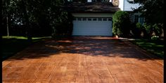 stamped colored concrete driveways - Google Search