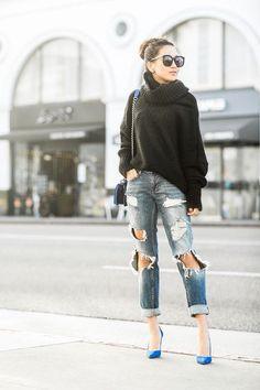 Friday :: Oversized sweater & Boyfriend jeans | Wendy's Lookbook | Bloglovin'