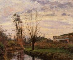 Landscape with Small Stream 1872 by Camille Pissarro