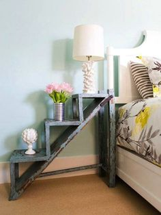 Diy home decor projects home decor ideas for with goodly about projects perfect cozy design diy . diy home decor projects My New Room, My Room, Spare Room, Diy Nightstand, Vintage Nightstand, Unique Nightstands, Bedside Storage, Unique Bedside Tables, Bedside Shelf