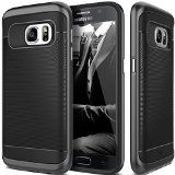 Galaxy S7 Case Caseology [Wavelength Series] Textured Pattern Grip Cover [Black] [Shock Proof] for Samsung Galaxy S7 (2016)  Black
