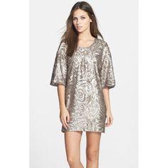 $238.00 Dress the Population 'Brooklyn' Sequin Shift Dress