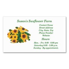 Cake decorator business cards template from httpzazzle sunflower farm business cards template colourmoves