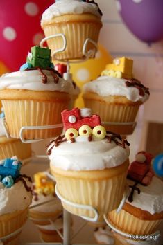 Adorable choo-choo train cupcakes! | #BabyCenterBlog