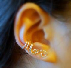 Ear Cuff  Double Spiral Ear Cuff by ForYourEar on Etsy