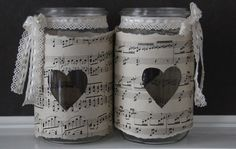 Jar with Heart Door Crafts, Diy And Crafts, Jelly Jars, Decorated Jars, Mason Jar Diy, Bottle Crafts, Diy Projects To Try, Glass Jars, Handmade