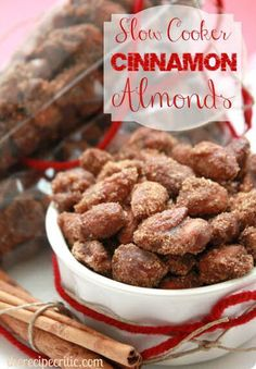 Slow Cooker Cinnamon Almonds from therecipecritic.com