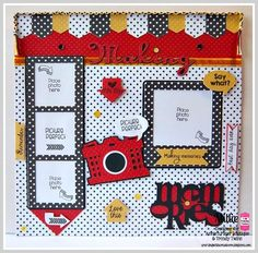 Memory Keeping (scrapbook layout) with Trendy Twine using the New Documenting the Everyday stamp set,  Totally Lemon Trendy Twine, Totally White Trendy Twine, Totally Black Trendy Twine, Lemon Midnight Sequins and Cricut Design Space.