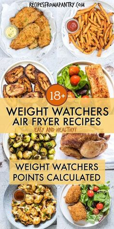 Looking for Healthy Air Fryer Recipes that are tasty and quick and easy to make? Each of the air fryer recipes in this collection are under 425 kcal, with most less than 350 kcal! But you'd never know it, since these easy air fryer recipes are SO deliciou Air Frier Recipes, Air Fryer Oven Recipes, Air Fryer Dinner Recipes, Air Fryer Recipes Chicken Wings, Power Air Fryer Recipes, Power Airfryer Xl Recipes, Air Fryer Recipes Slimming World, Air Fryer Recipes Gluten Free, Air Fryer Recipes Vegetables