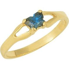 10kt Yellow Bfly® September CZ Birthstone Ring >>> Want additional info? Click on the image.