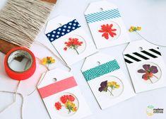 DIY : �tiquettes � offrir � tags en fleurs s�ch�es