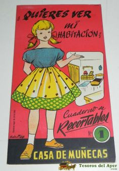 1962 Wanna See My Room paper doll from Spain / tesorosdelayer.com