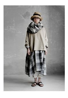 BerryStyle | Rakuten Global Market: Joie de Vivre French linen gradation check skipper dress
