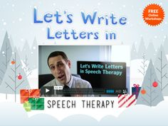 Today is the perfect day to start planning where/who you and your speech therapy students should write letters to in January. Check out my FREE workshop called Let's Write Letters in Speech Therapy for some cool ideas. http://www.erikxraj.com/free-online-workshops