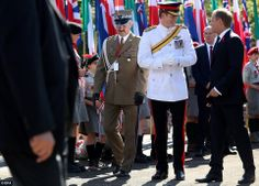 Harry joined more than 50 Polish veterans of the battle, their prime minister Donald Tusk ...